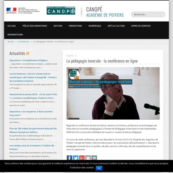Conférence de Marcel Lebrun en ligne - CANOPÉ - Académie de Poitiers
