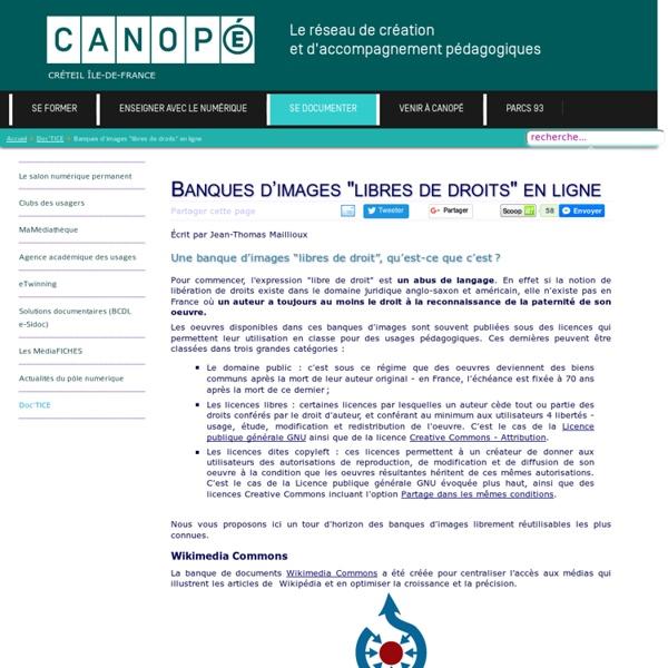 """Canopé Créteil - Banques d'images """"libres de droits"""" en ligne"""