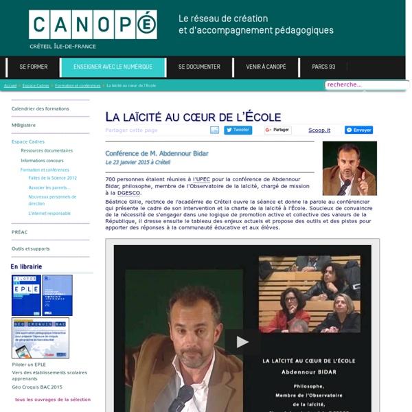 Canopé Créteil - La laïcité au cœur de l'École