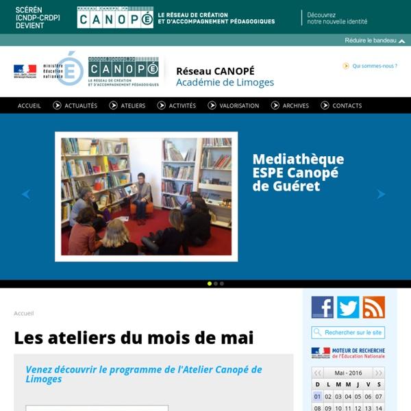 CRDP du Limousin : des ressources pédagogiques