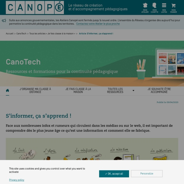 S'informer, ça s'apprend ! - CanoTech