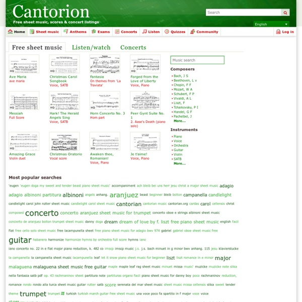 Home - Cantorion - Free sheet music, free scores