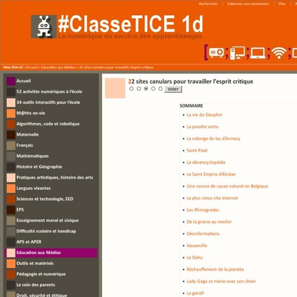 21 sites canulars pour travailler l'esprit critique