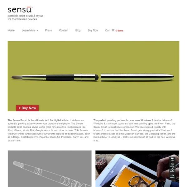 Sensu кисть - кисть художника портативных и стилус для устройств с сенсорными экранами
