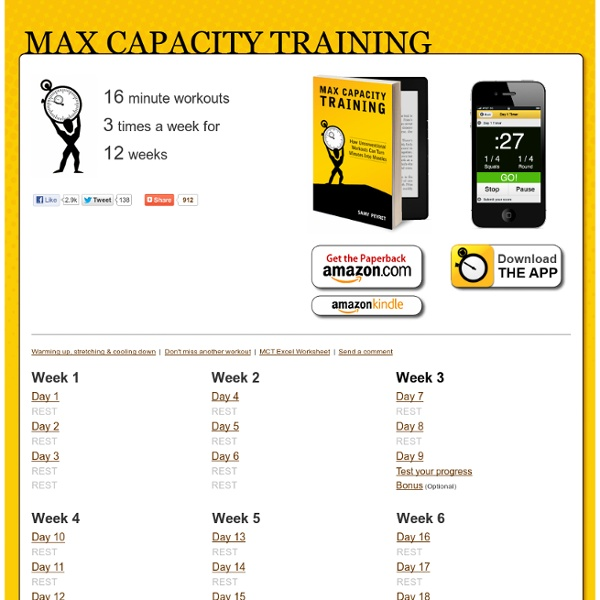 Max Capacity Training 12 Week Bodyweight Workout Plan