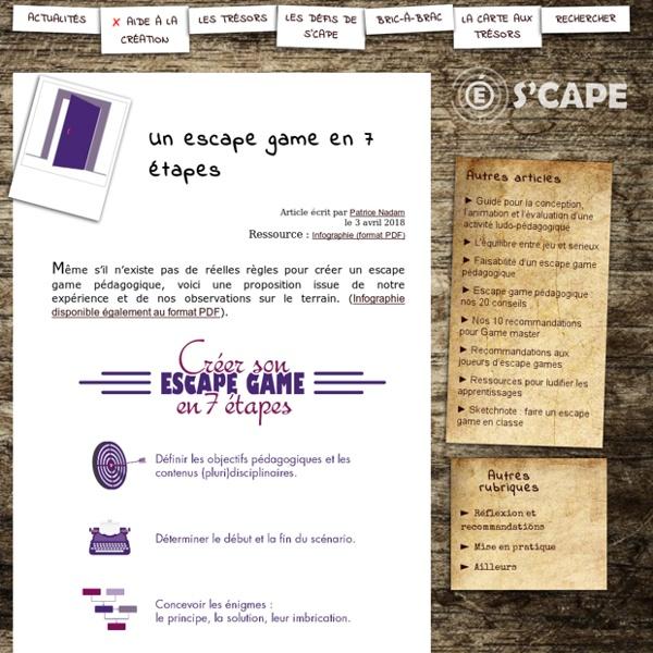 S'CAPE-Un escape game en 7 étapes
