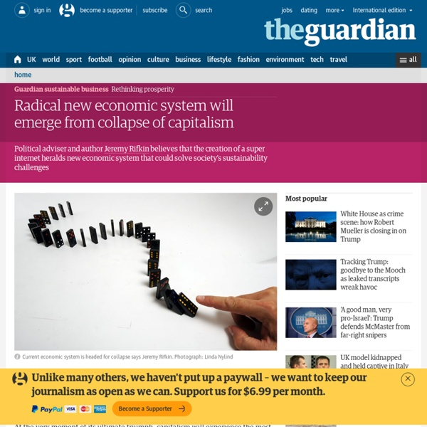 Radical new economic system will emerge from collapse of capitalism