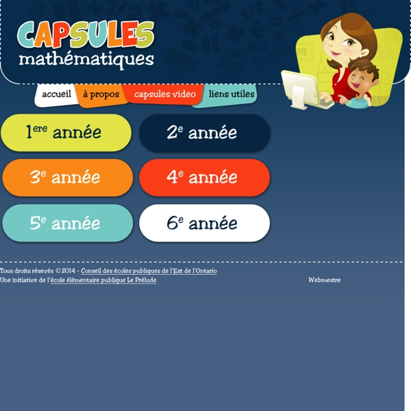 Capsules Mathématiques - Accueil