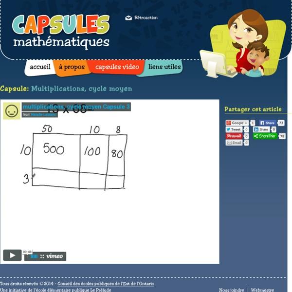 Capsules Mathématiques - Capsule