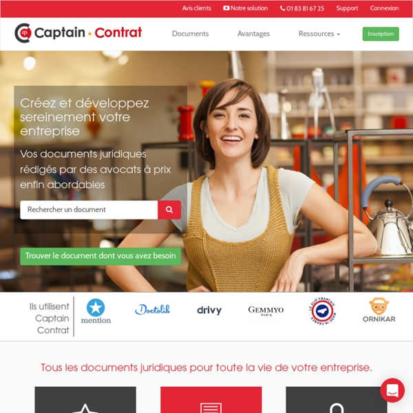 Captain Contrat - Tous les documents juridiques des PME
