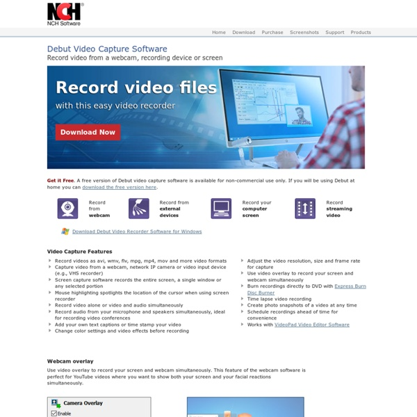 Video Capture Software. Video, Webcam or Screen Recorder