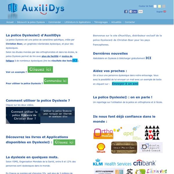 Dyslexie - La police de caractères pour dyslexiques