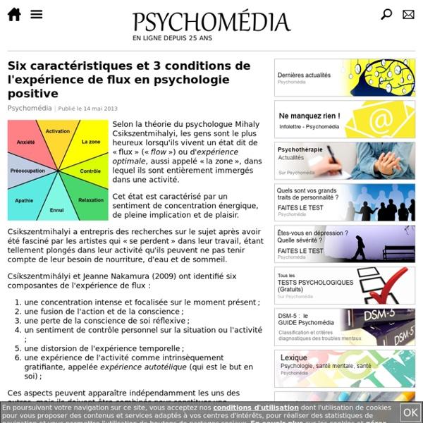 """Qu'est-ce que l'expérience optimale (""""flow"""") en psychologie positive?"""
