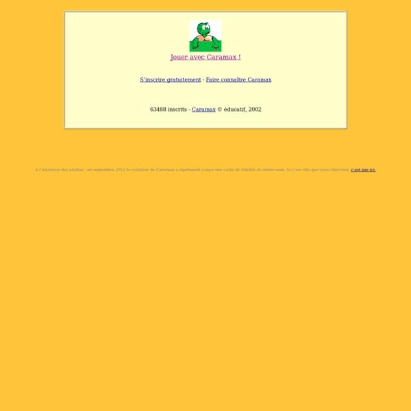 CARAMAX la tortue : le site éducatif et ludique préféré des enfants