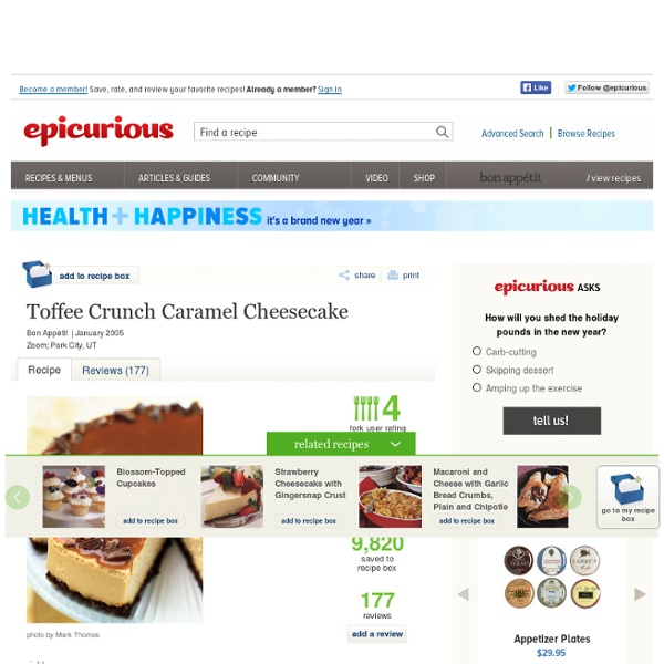Toffee Crunch Caramel Cheesecake Photo at Epicurious