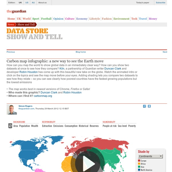 Carbon map infographic: a new way to see the Earth move