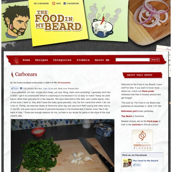 Carbonara - The Food in my Beard