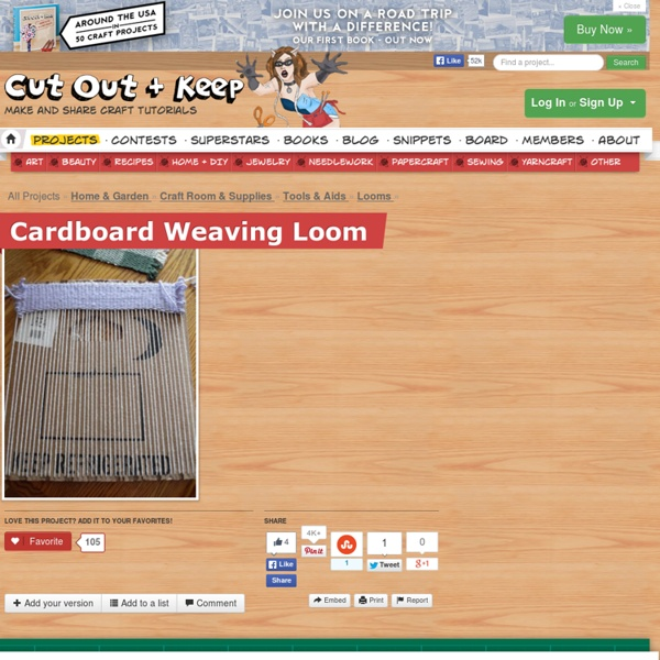 Cardboard Weaving Loom ∙ How To by Jenny Bones on Cut Out