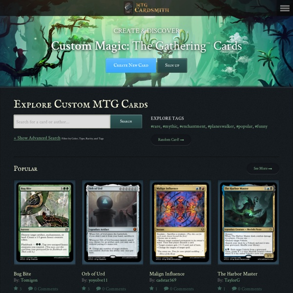 MTG Cardsmith: A Magic: The Gathering Custom Card Maker