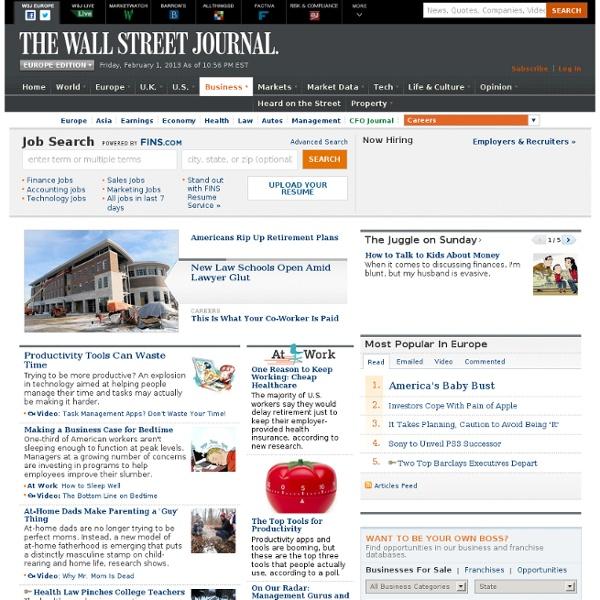 Career & Job News, Work, Employment & Salary Trends
