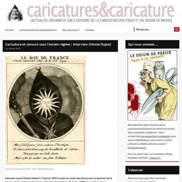 Caricature et censure sous l'Ancien régime : interview d'Annie Duprat -