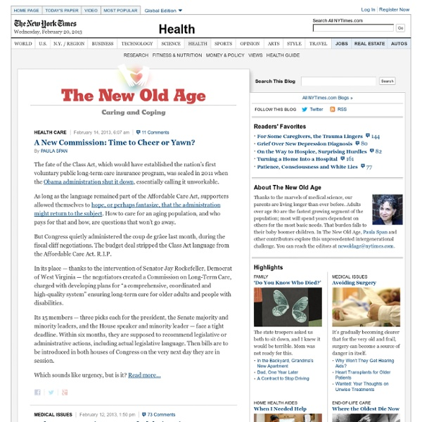 Caring for Aging Parents - The New Old Age Blog - NYTimes.com - NYTimes.com