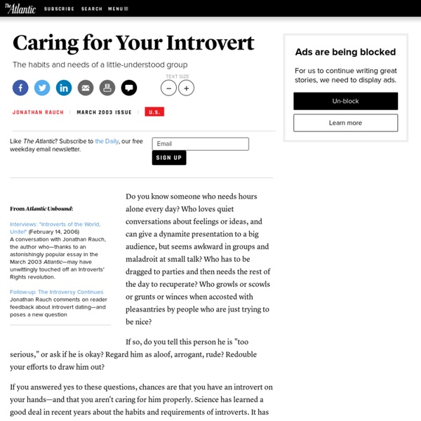 Caring for Your Introvert - Magazine | Pearltrees