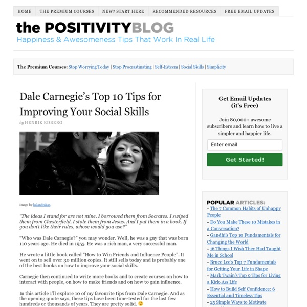 Dale Carnegie's Top 10 Tips for Improving Your Social Skills