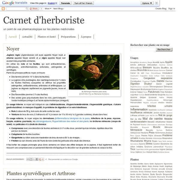 Carnet d'herboriste