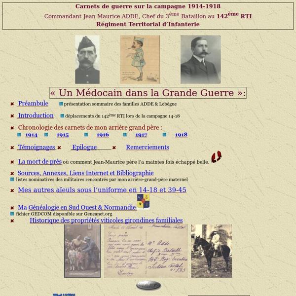 Carnet de Guerre 14-18