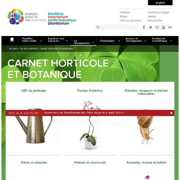 Carnet horticole et botanique