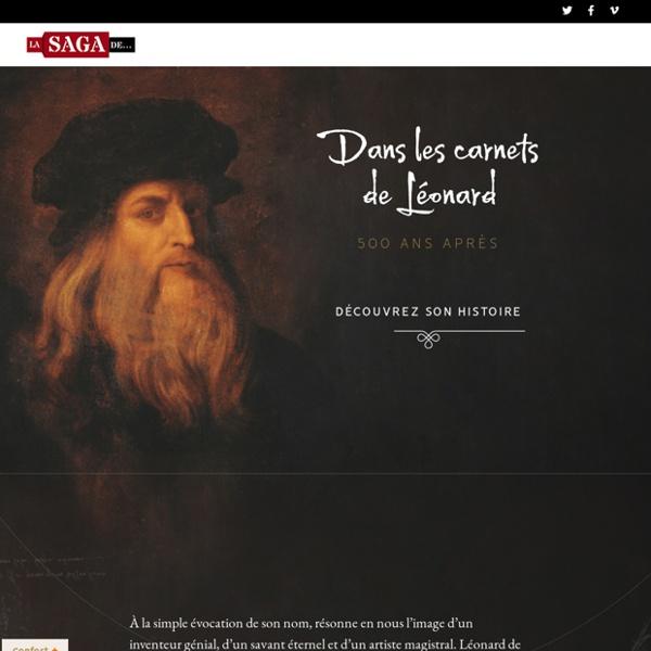 Dans les carnets de Léonard 500 ans après ~ SagaScience