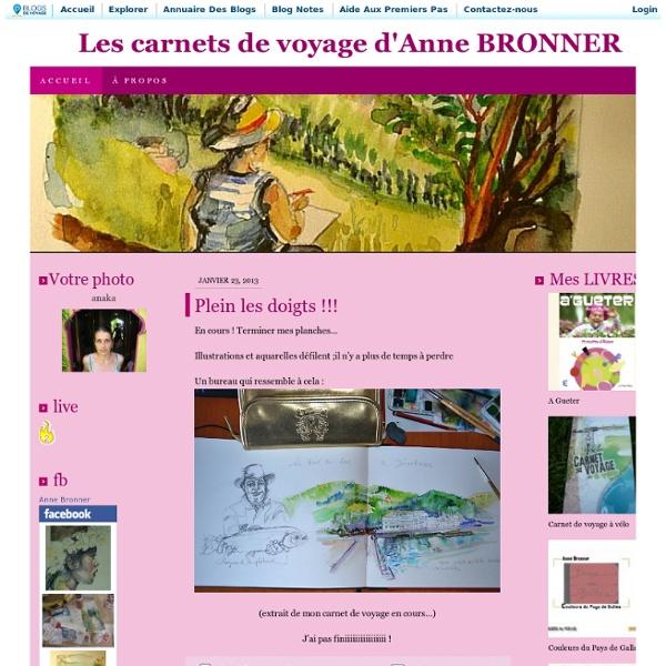 Allervoir les carnets de voyage d'Anne BRONNER couleurs et croquis vous attendent