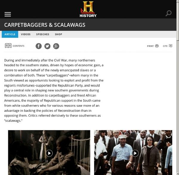 Carpetbaggers & Scalawags - American Civil War
