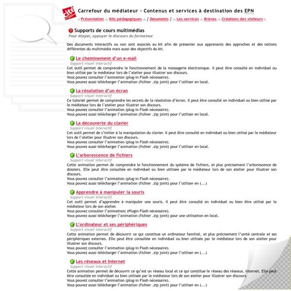 Carrefour du médiateur - Contenus et services à destination des EPN