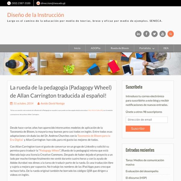 La rueda de la pedagogía (Padagogy Wheel) de Allan Carrington traducida al español!