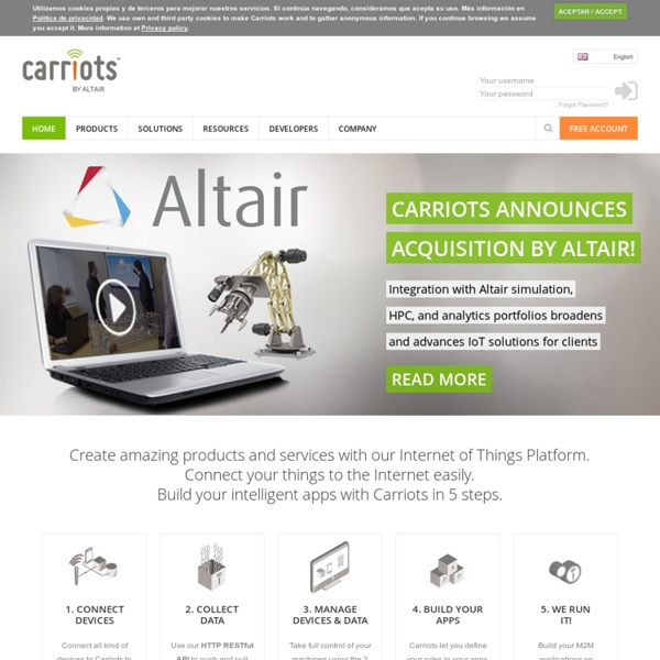 Carriots - Internet of Things Platform
