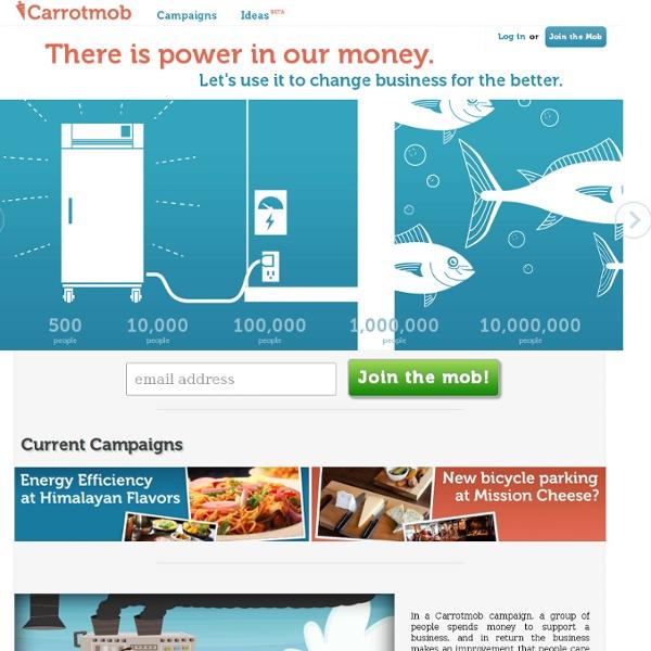 Carrotmob - Vote with your money