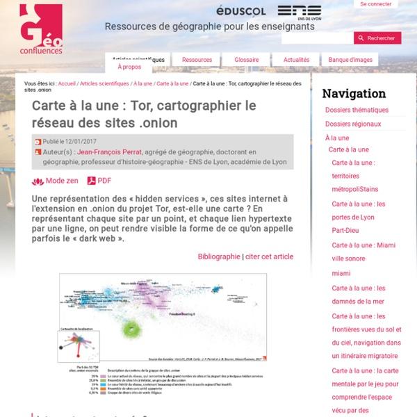 Tor, cartographier le réseau des sites .onion (ens Lyon)