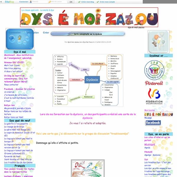 Carte conceptuelle sur la dyslexie - dys é moi zazou - Iceweasel