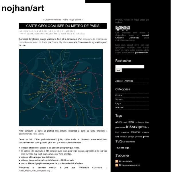 Carte géolocalisée du métro de Paris - nojhan/art