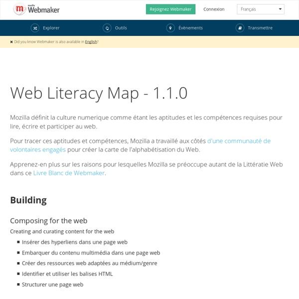 Carte de la Littératie Web