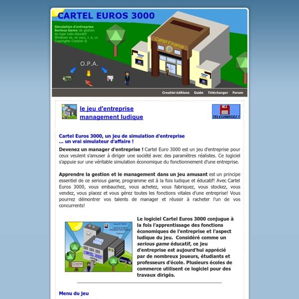 Le jeu Cartel Euros 3000: manager une entreprise !
