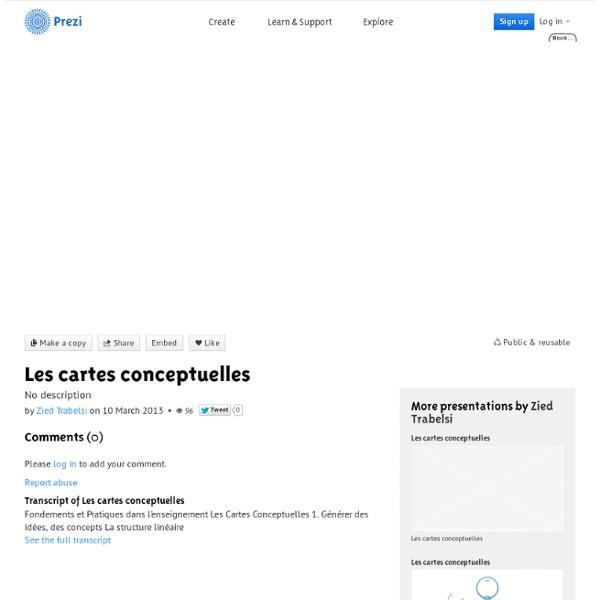 Les cartes conceptuelles by Zied Trabelsi on Prezi