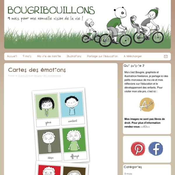 Cartes des émotions - Bougribouillons