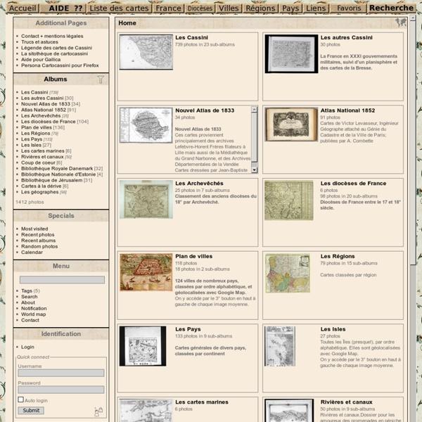 Cartes de géographie CASSINI