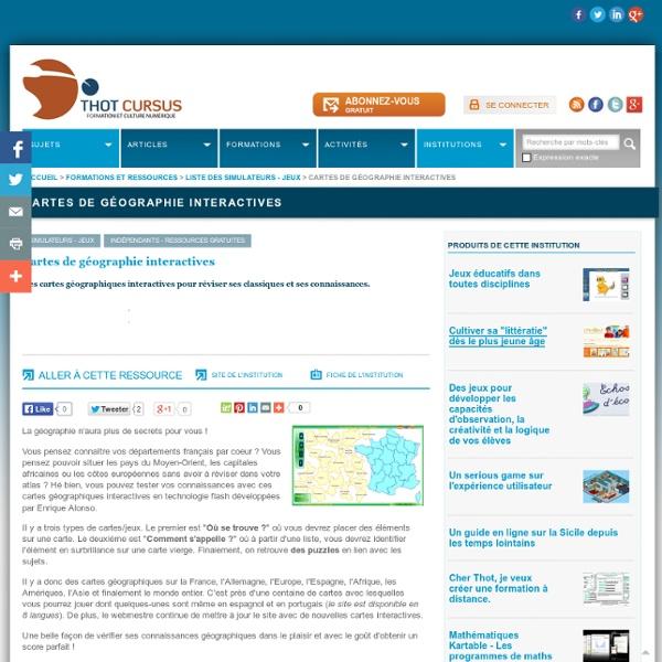 Cartes de géographie interactives