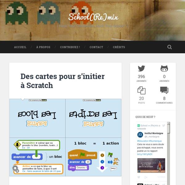 Des cartes pour s'initier à Scratch - School(Re)mix