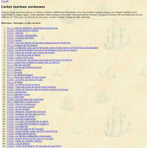 Cartes marines anciennes