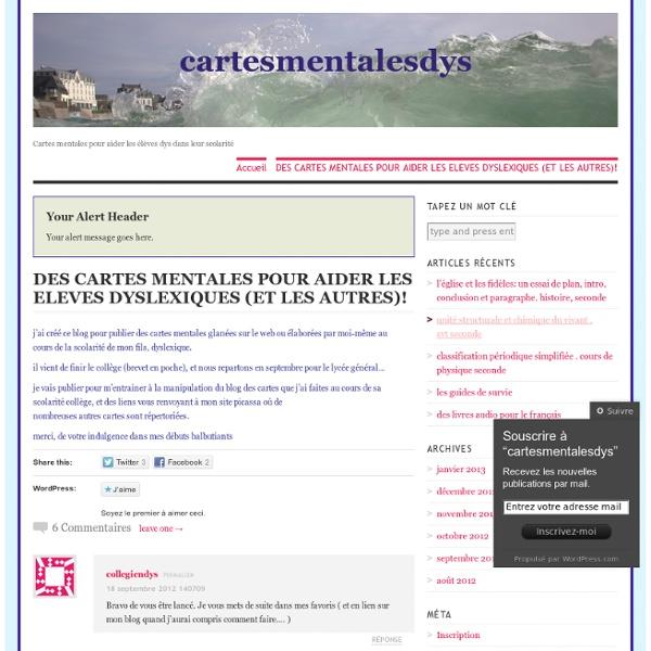 Cartes mentales pour aider les élèves dys dans leur scolarité